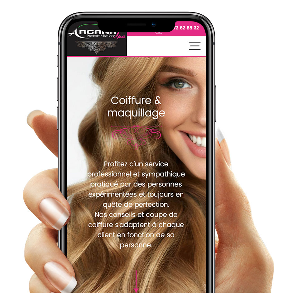 Argana SPA by Illucom - site mobile