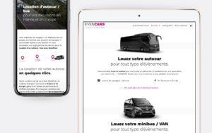 Evencars - Conception du site internet