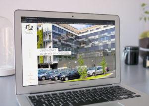 R2A conception site vitrine