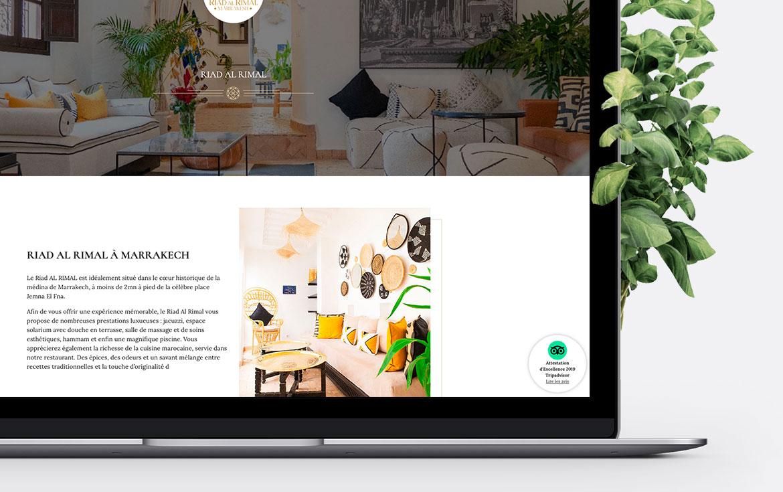 Version Laptop du site Riad Al Rimal